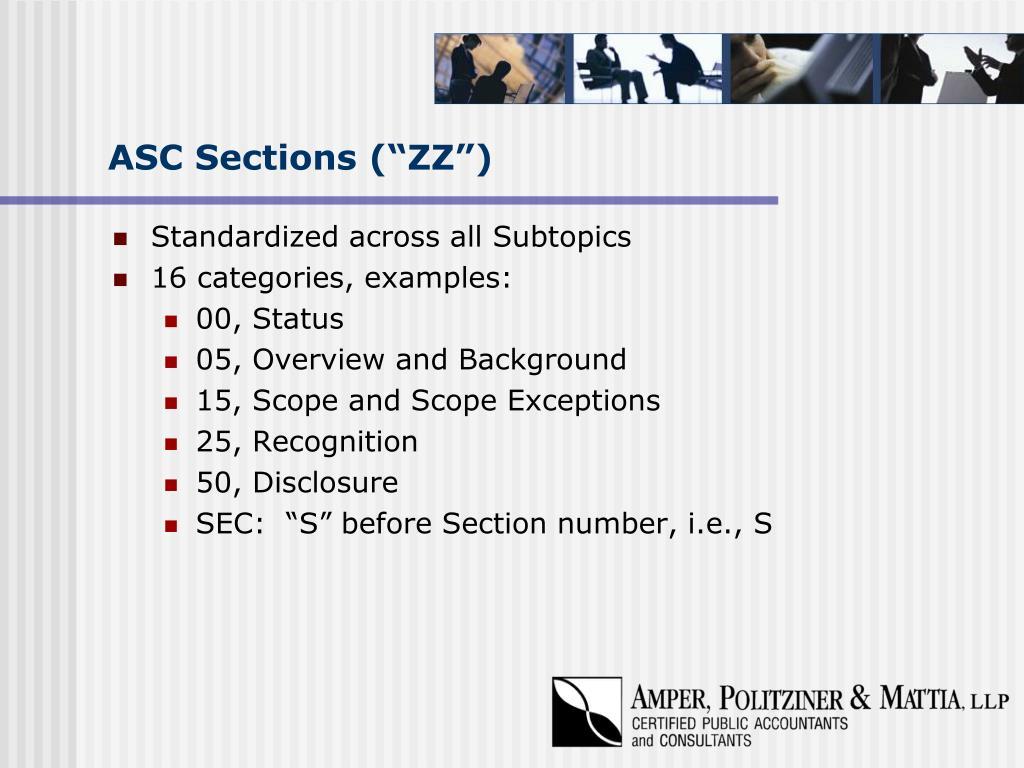 "ASC Sections (""ZZ"")"