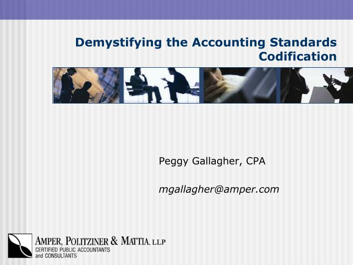 Demystifying the accounting standards codification l.jpg