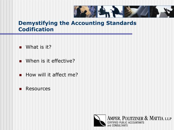 Demystifying the accounting standards codification2