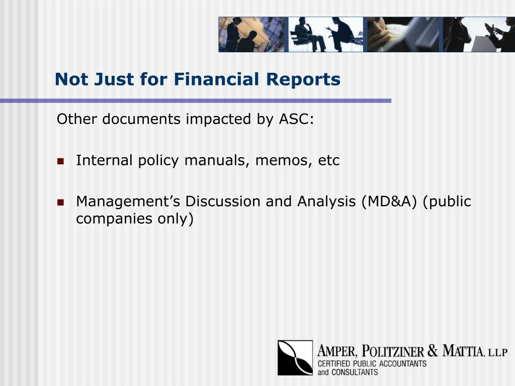 Not Just for Financial Reports