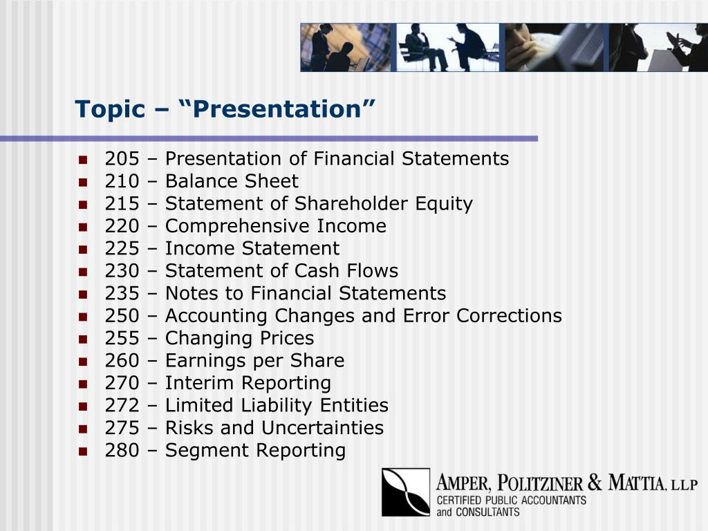 "Topic – ""Presentation"""