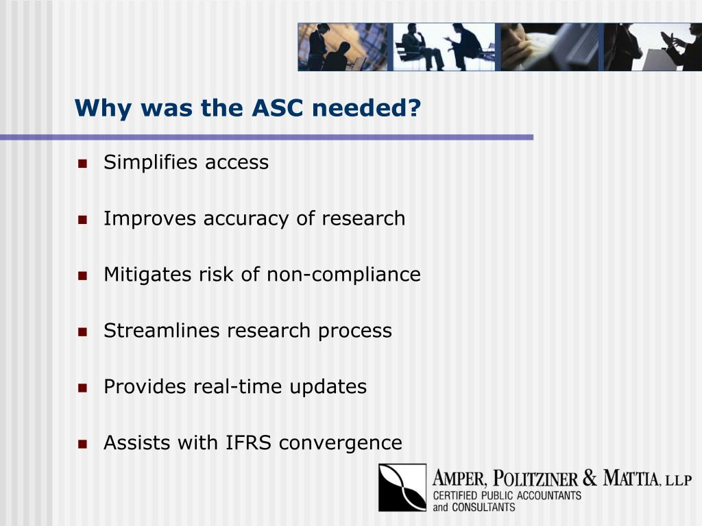Why was the ASC needed?