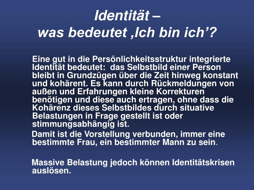 Identität –