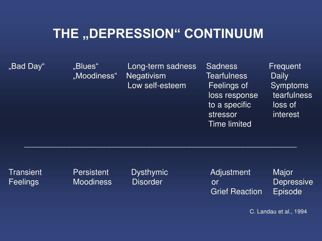 """THE """"DEPRESSION"""" CONTINUUM"""