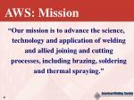 aws mission