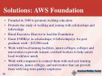 solutions aws foundation