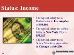 status income