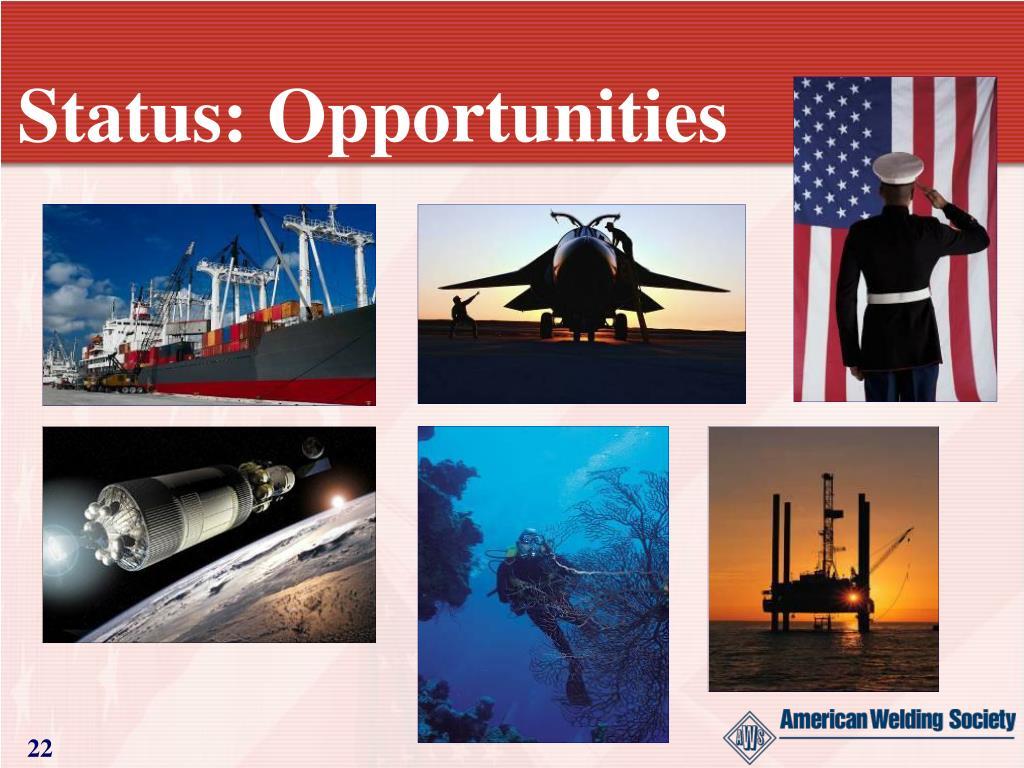 Status: Opportunities