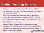 status welding industry