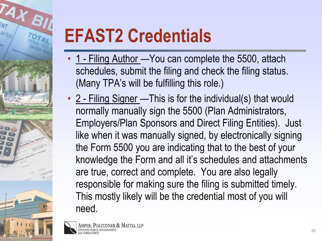 EFAST2 Credentials