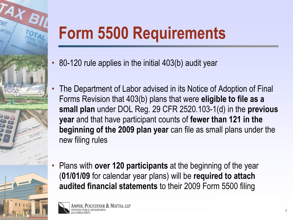 Form 5500 Requirements