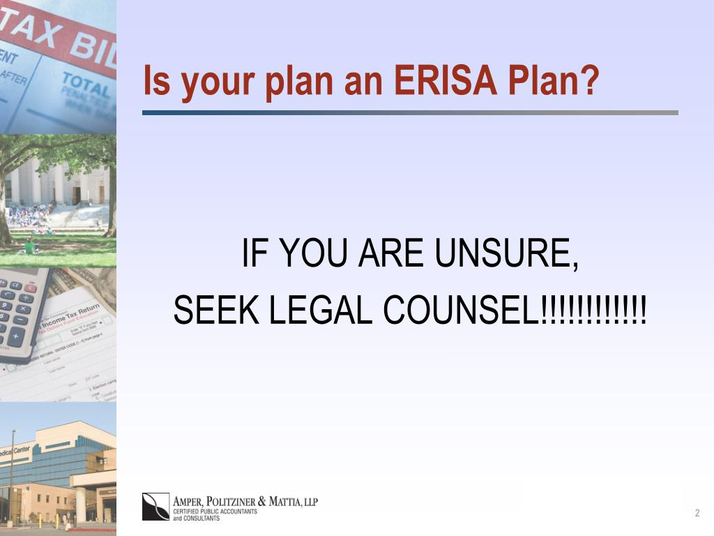 Is your plan an ERISA Plan?