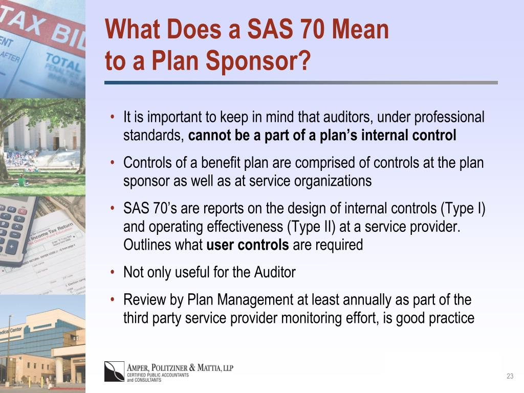 What Does a SAS 70 Mean