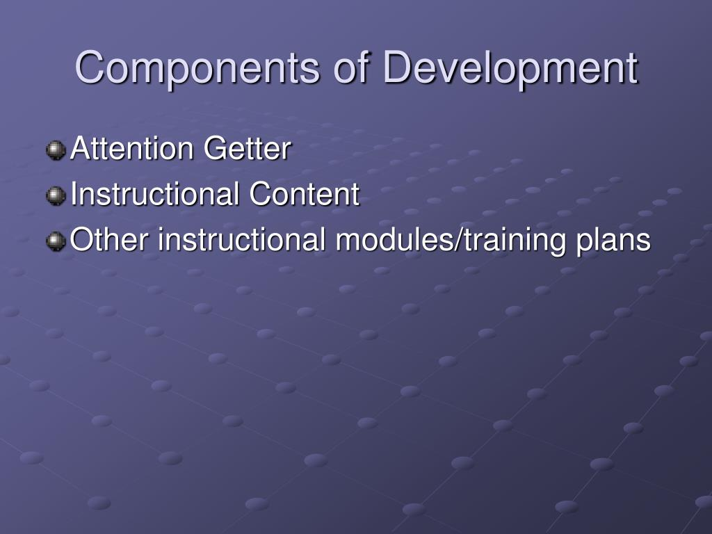 Components of Development