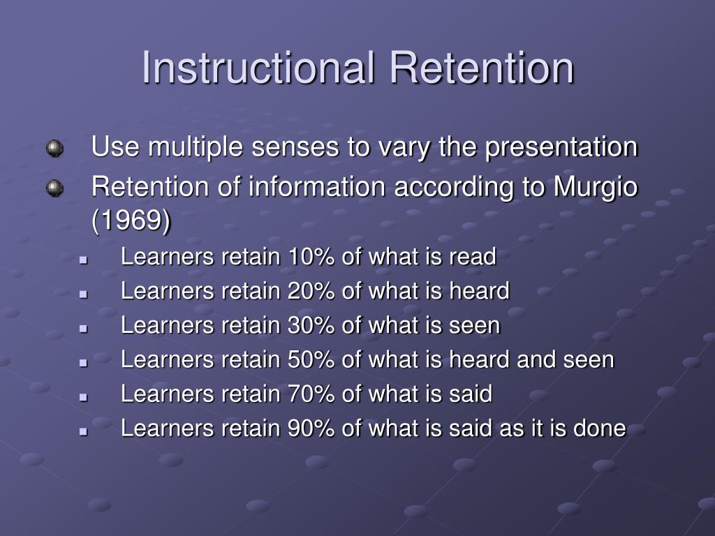 Instructional Retention