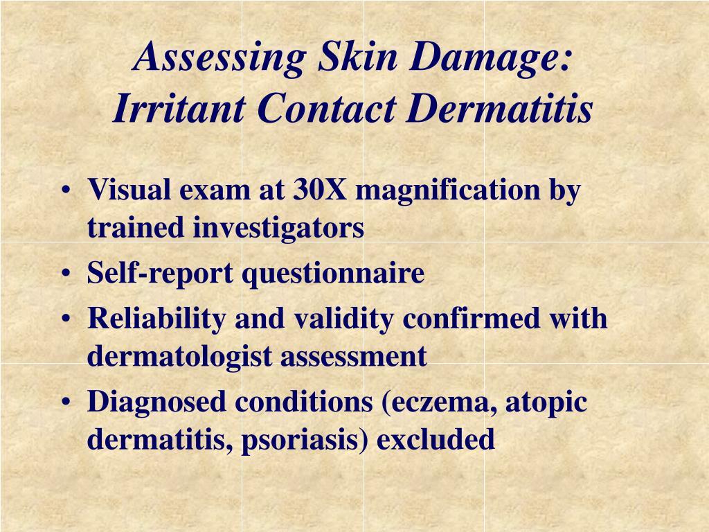 Assessing Skin Damage: