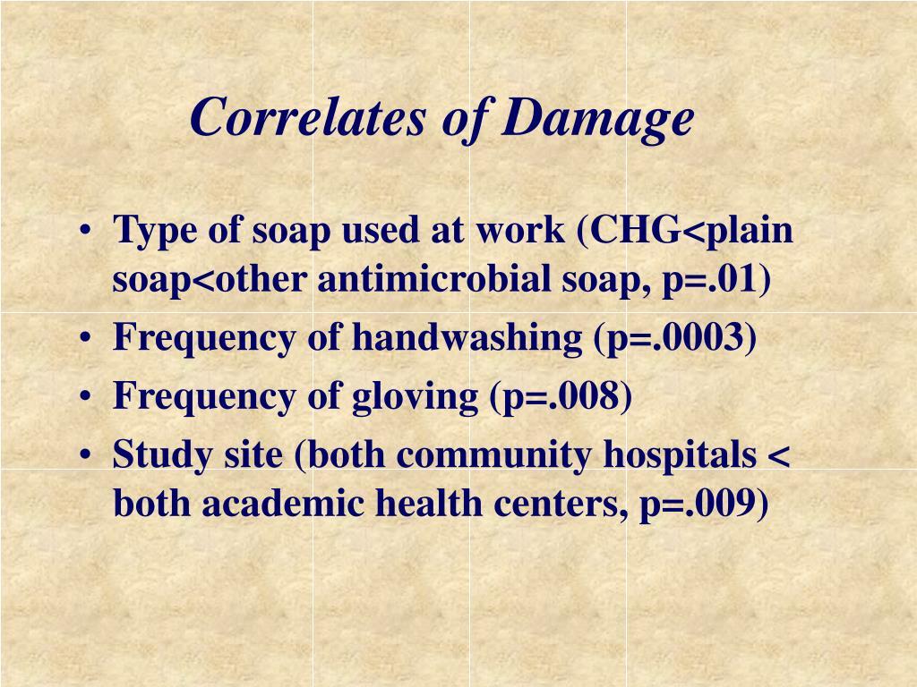 Correlates of Damage