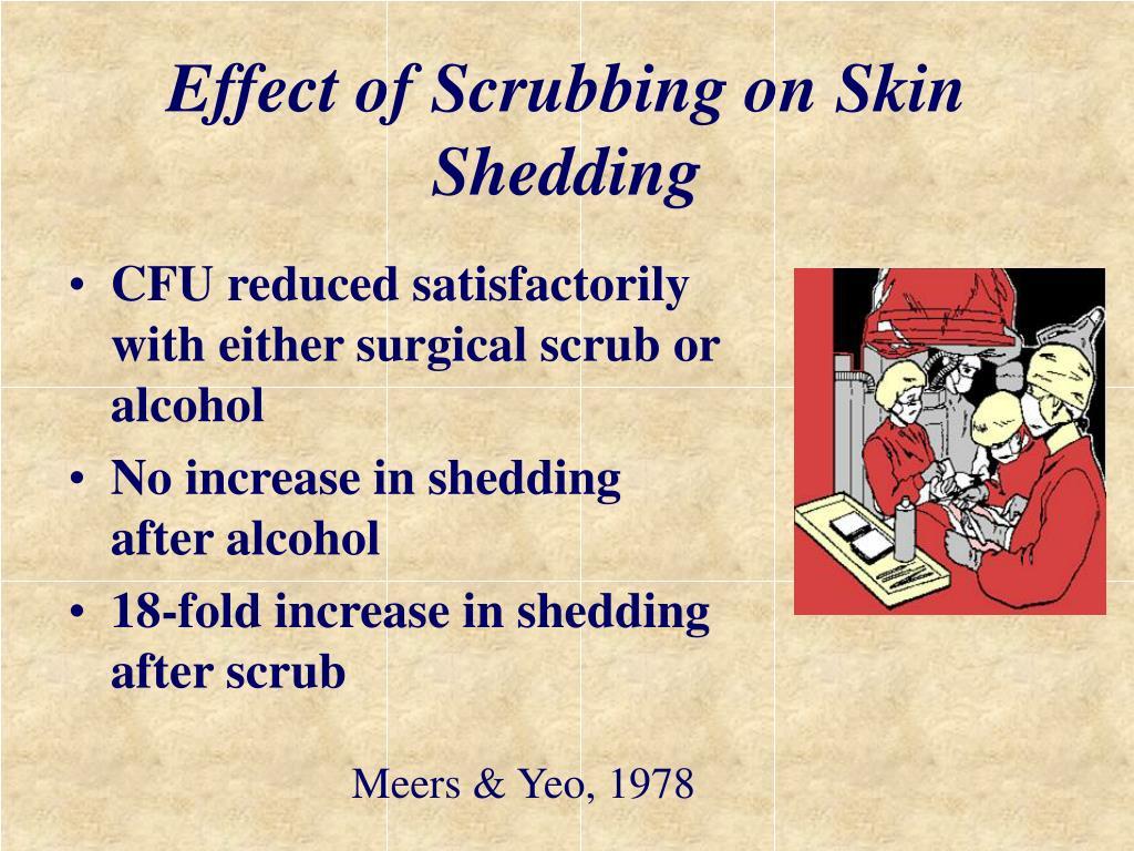 Effect of Scrubbing on Skin Shedding