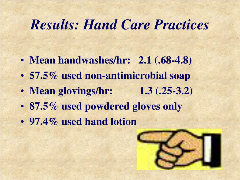 Results: Hand Care Practices
