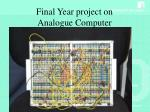 final year project on analogue computer