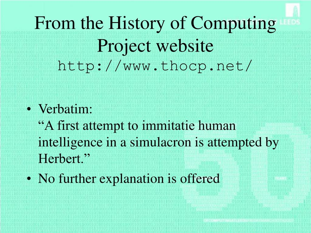 From the History of Computing Project website