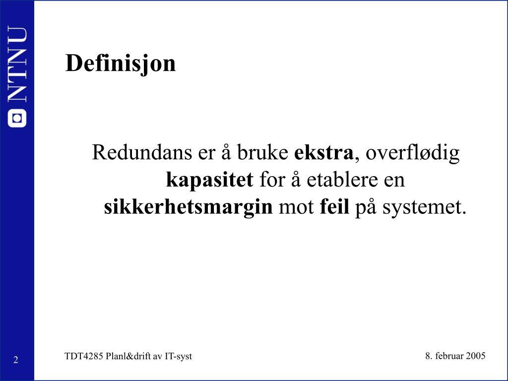 Definisjon