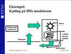 eksempel kj ling p idis maskinrom