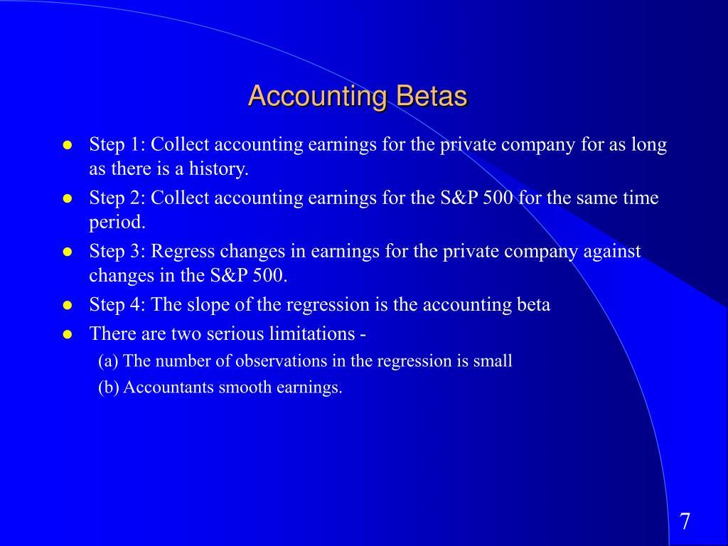 Accounting Betas