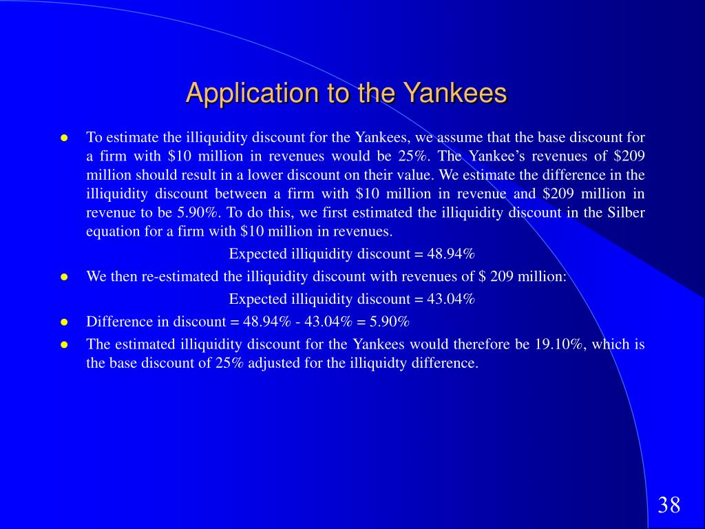 Application to the Yankees