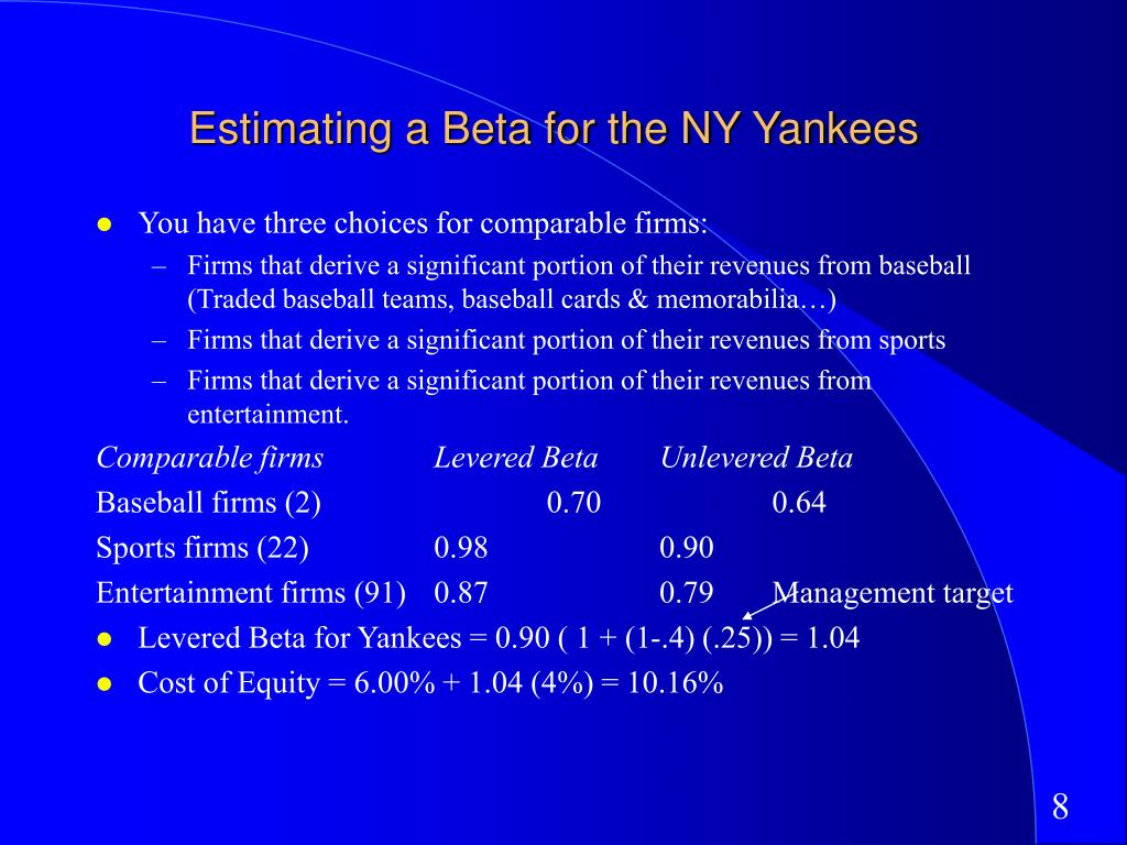 Estimating a Beta for the NY Yankees