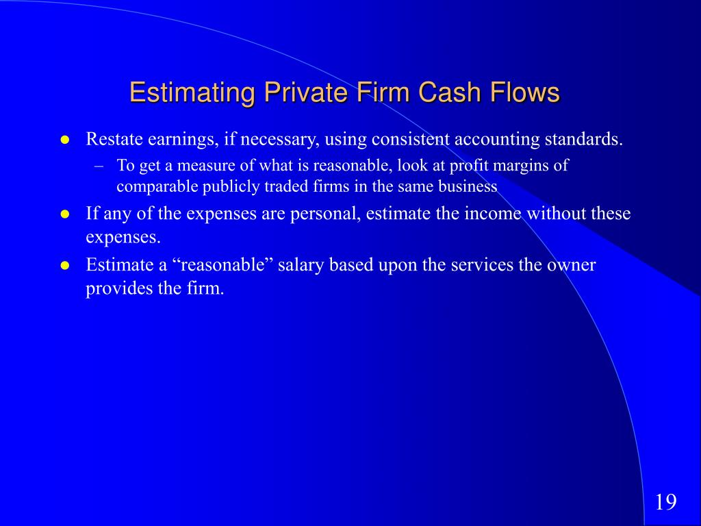 Estimating Private Firm Cash Flows