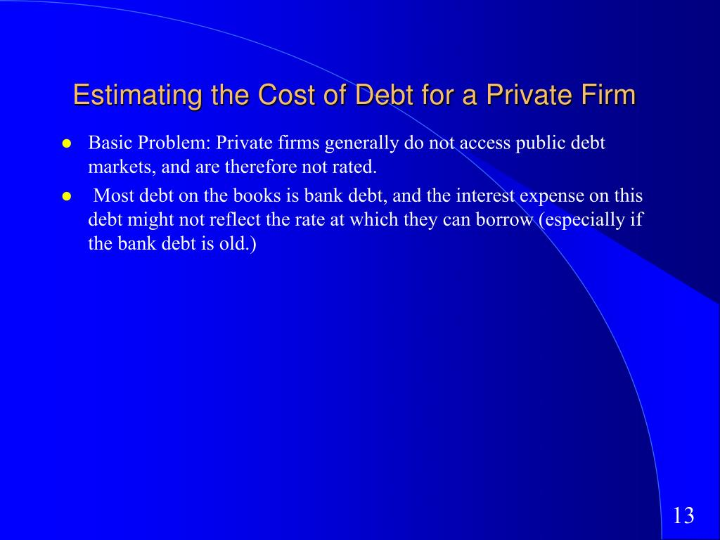 Estimating the Cost of Debt for a Private Firm