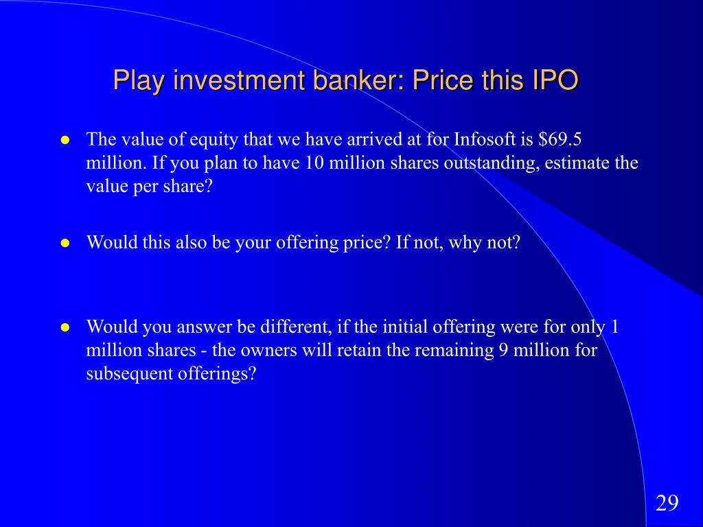 Play investment banker: Price this IPO
