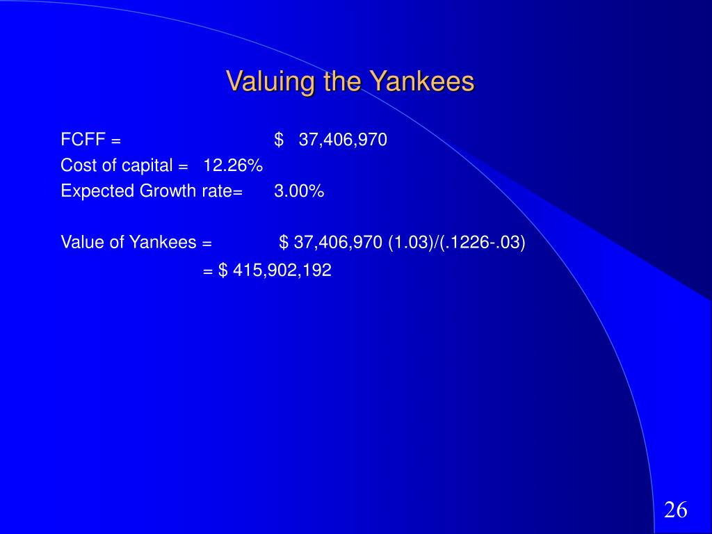 Valuing the Yankees