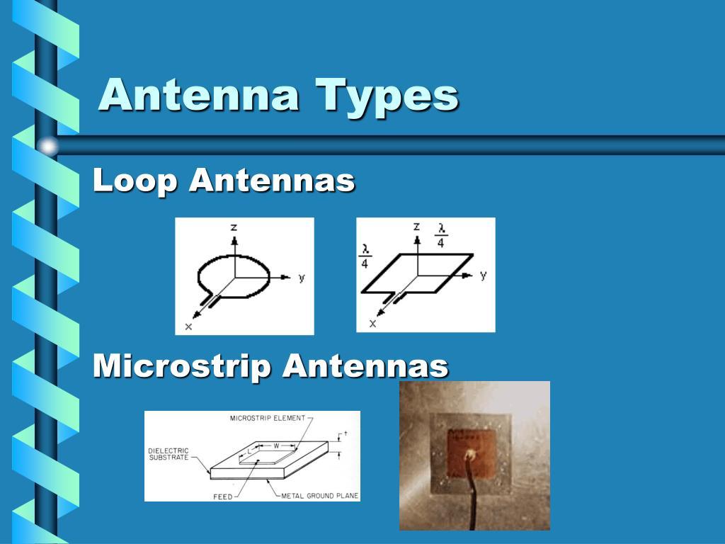 Ppt on smart antennas - Antenna Types