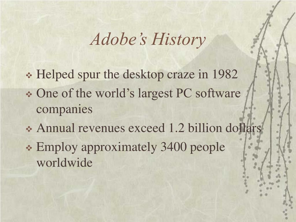 Adobe's History