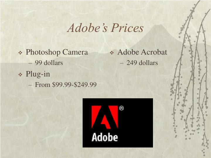 Adobe s prices