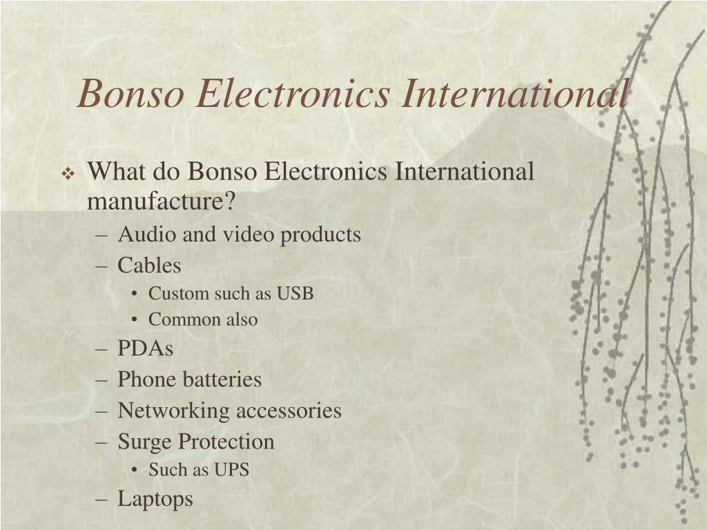 Bonso Electronics International