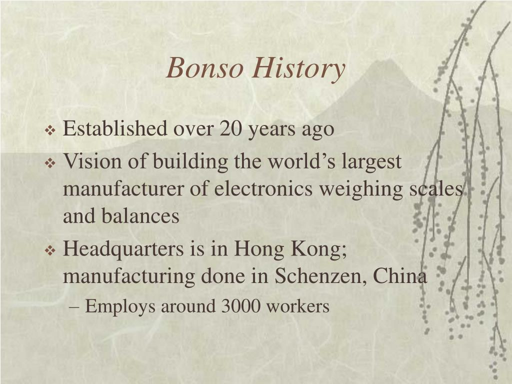 Bonso History