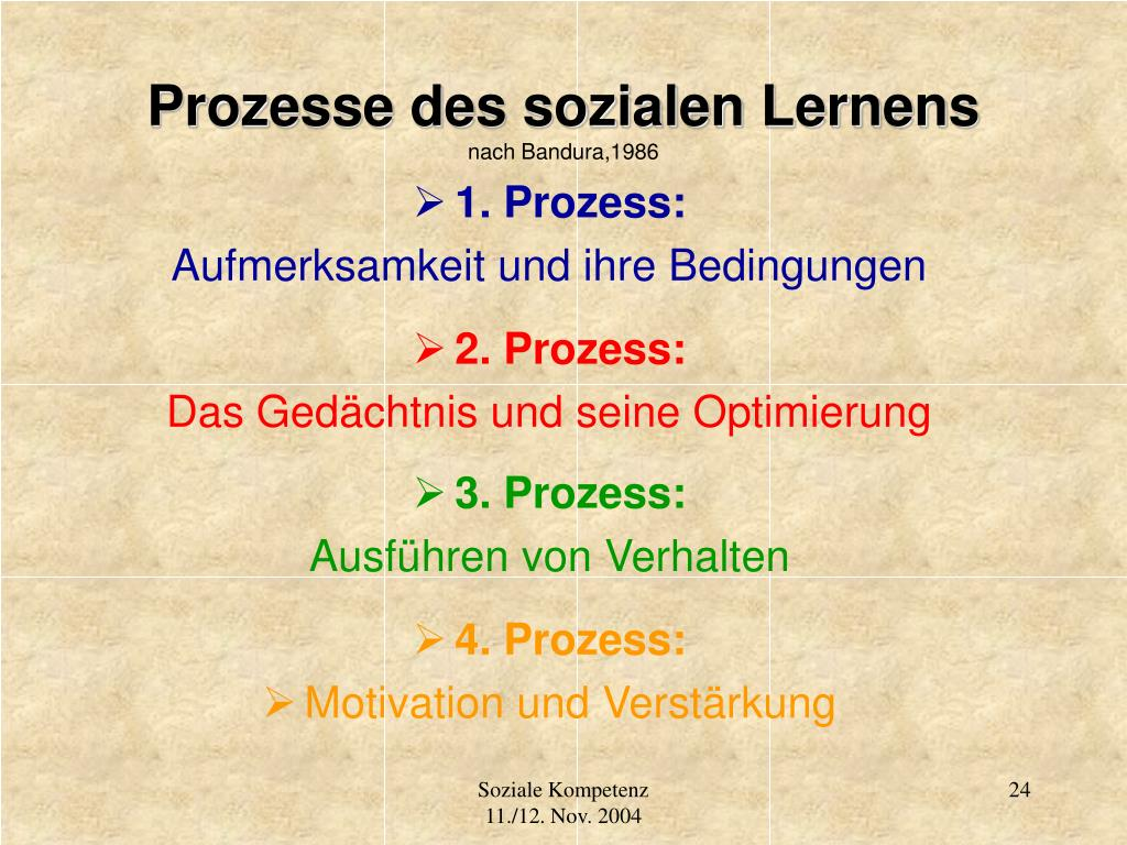 Prozesse des sozialen Lernens