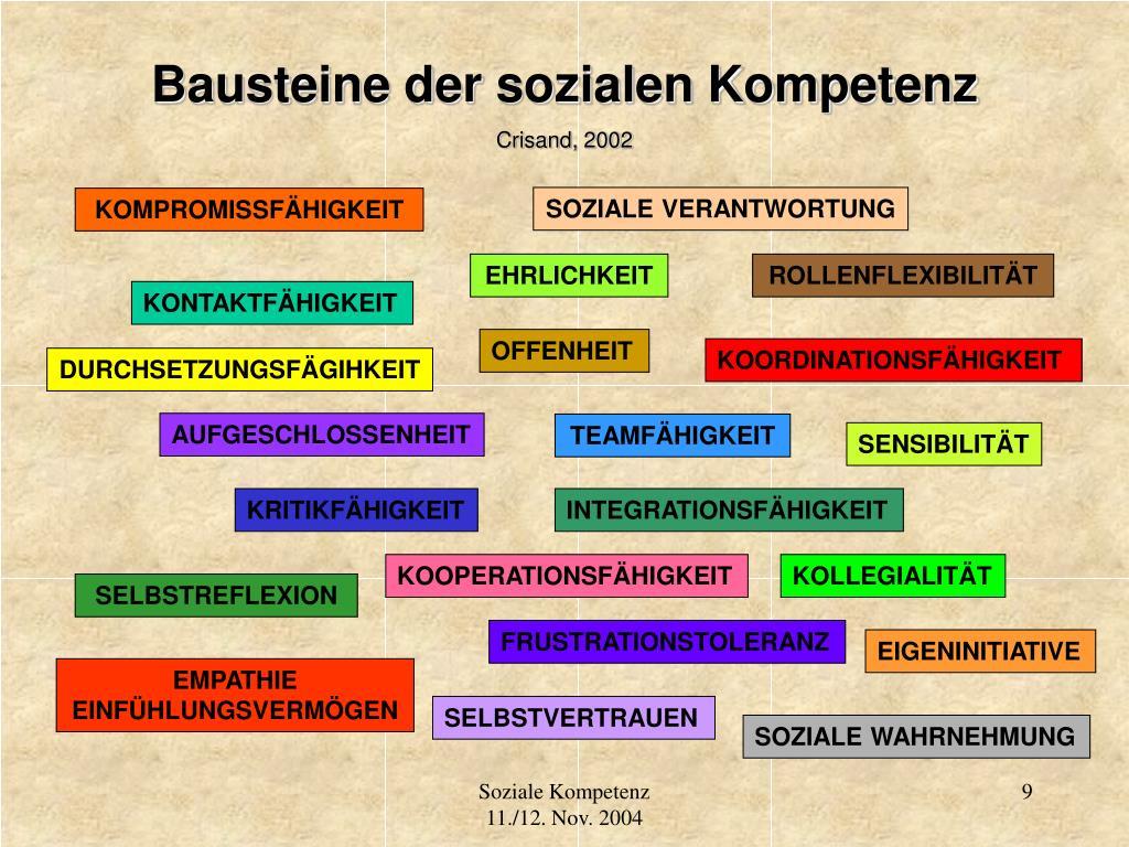 Bausteine der sozialen Kompetenz