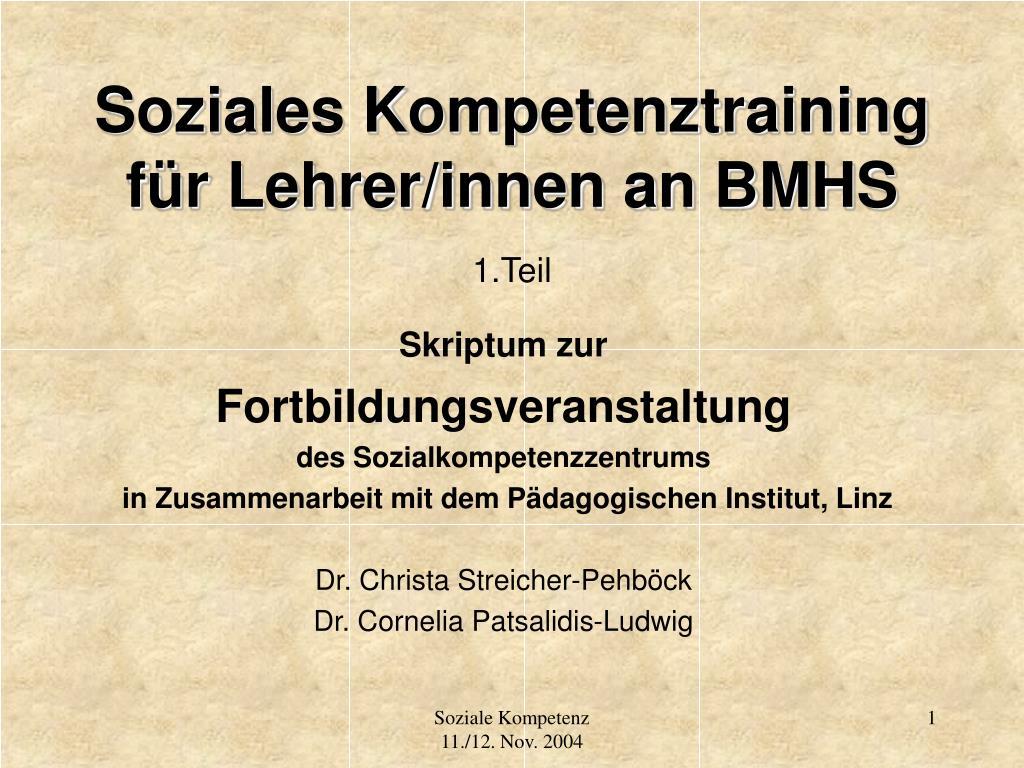 Soziales Kompetenztraining für Lehrer/innen an BMHS