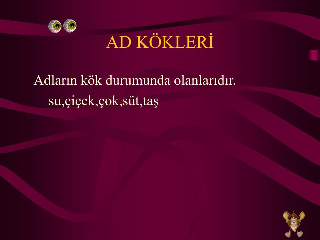 AD KÖKLERİ