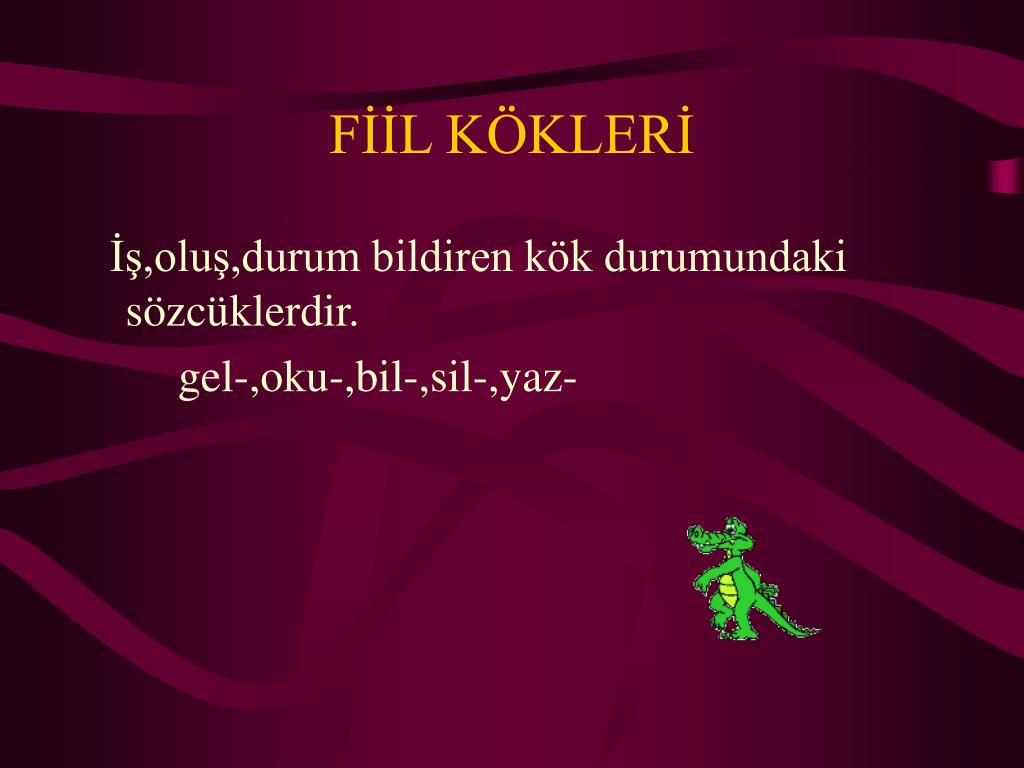 FİİL KÖKLERİ