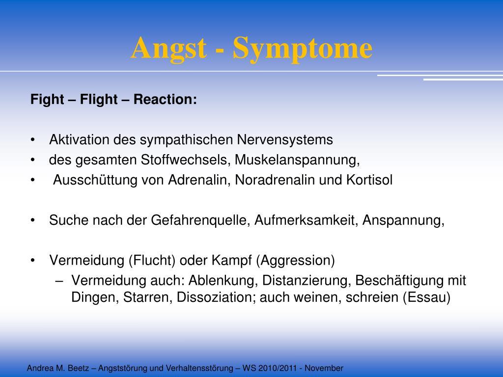 Angst - Symptome