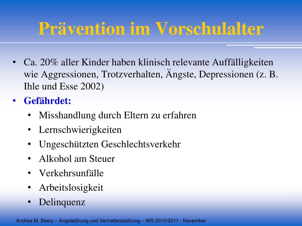 Prävention im Vorschulalter