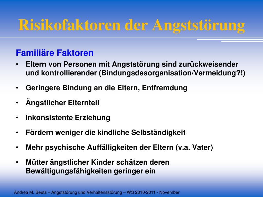 Risikofaktoren der Angststörung