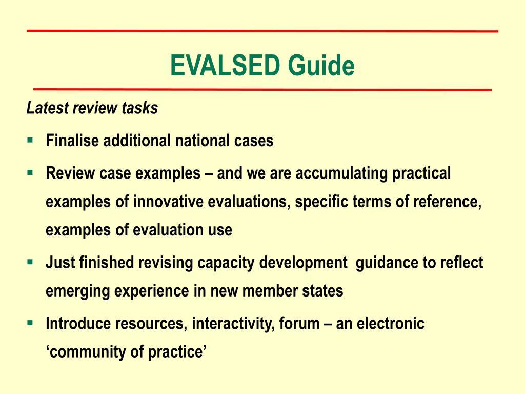 EVALSED Guide