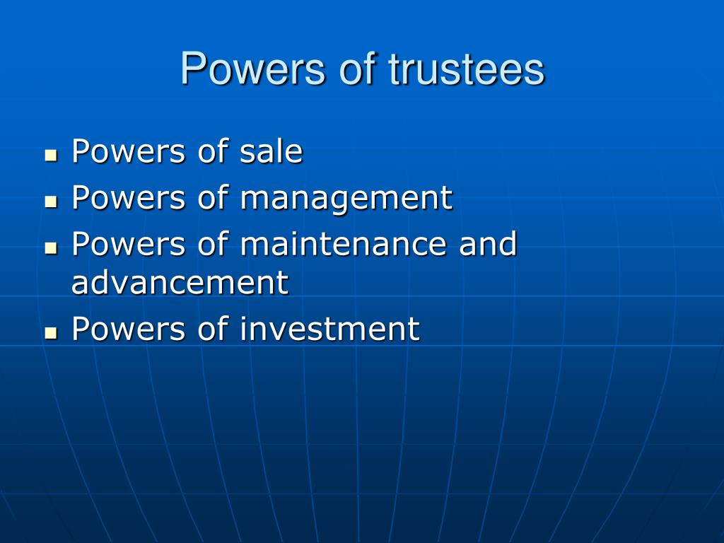 Powers of trustees