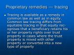 proprietary remedies tracing